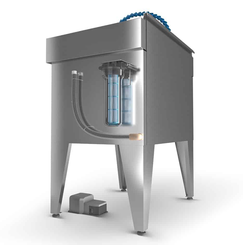 fontaine de nettoyage inox - 3D 1
