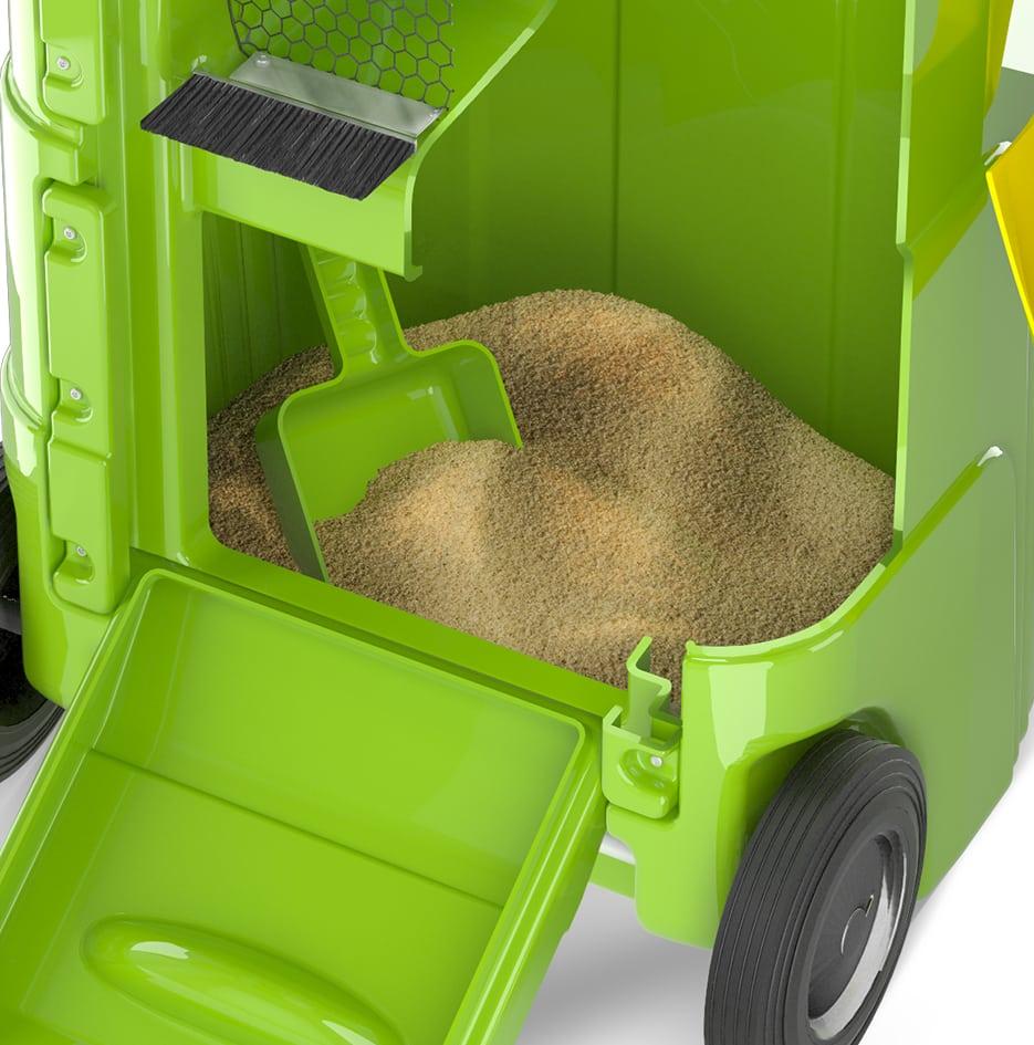 reciclagem de absorvente móvel - 3D 2