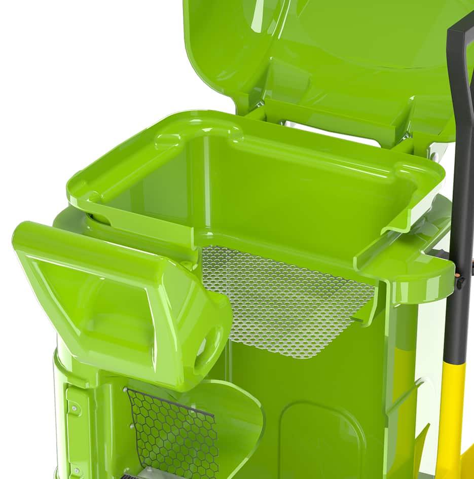 reciclagem de absorvente móvel - 3D 3