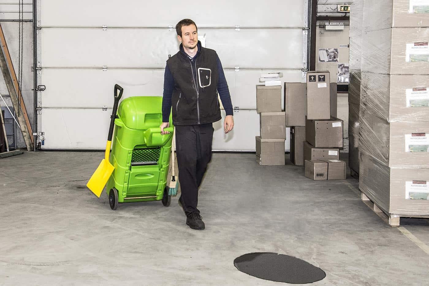 reciclagem de absorvente móvel - situação 1