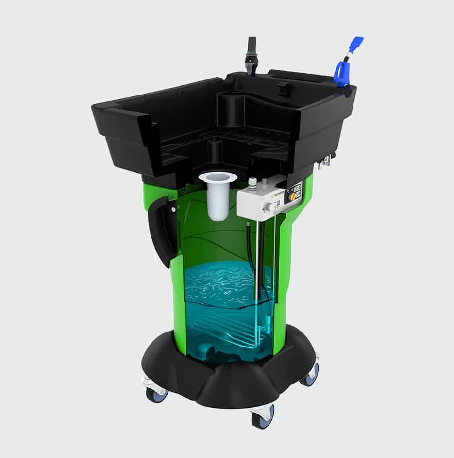 fontaine de nettoyage mobile gravity X3 - 3D 5